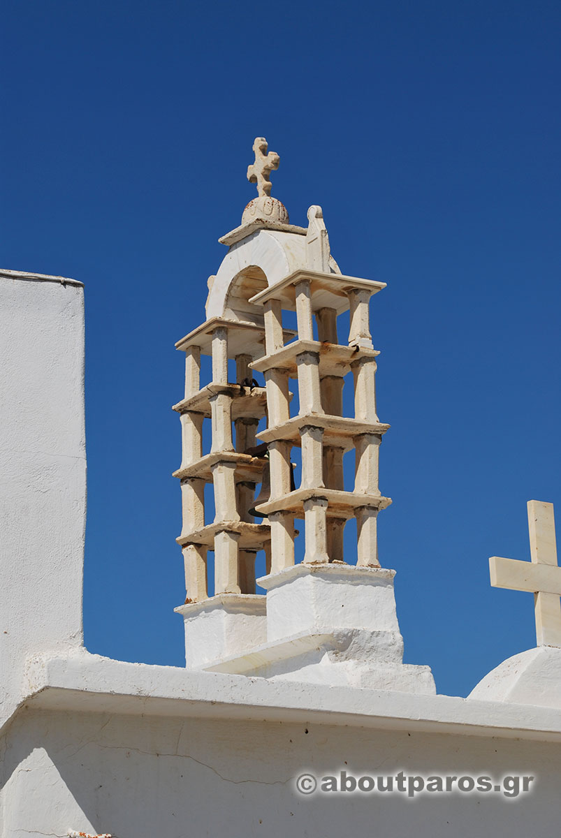 A typical marble belfry in Paros