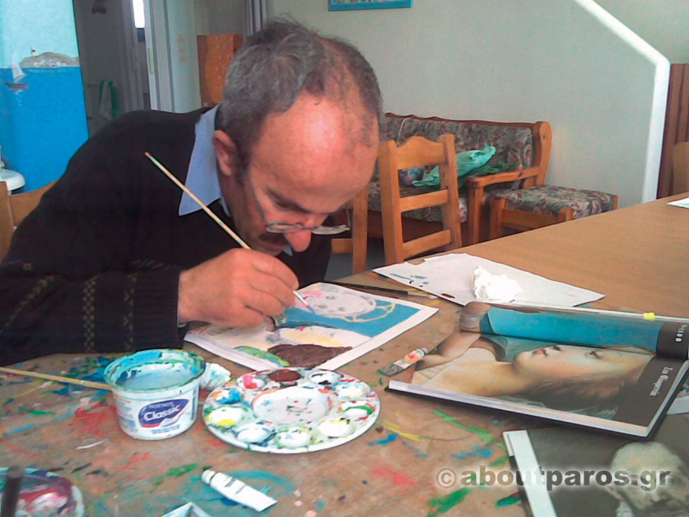 Drawing classes at the vollunteer center for people with special needs