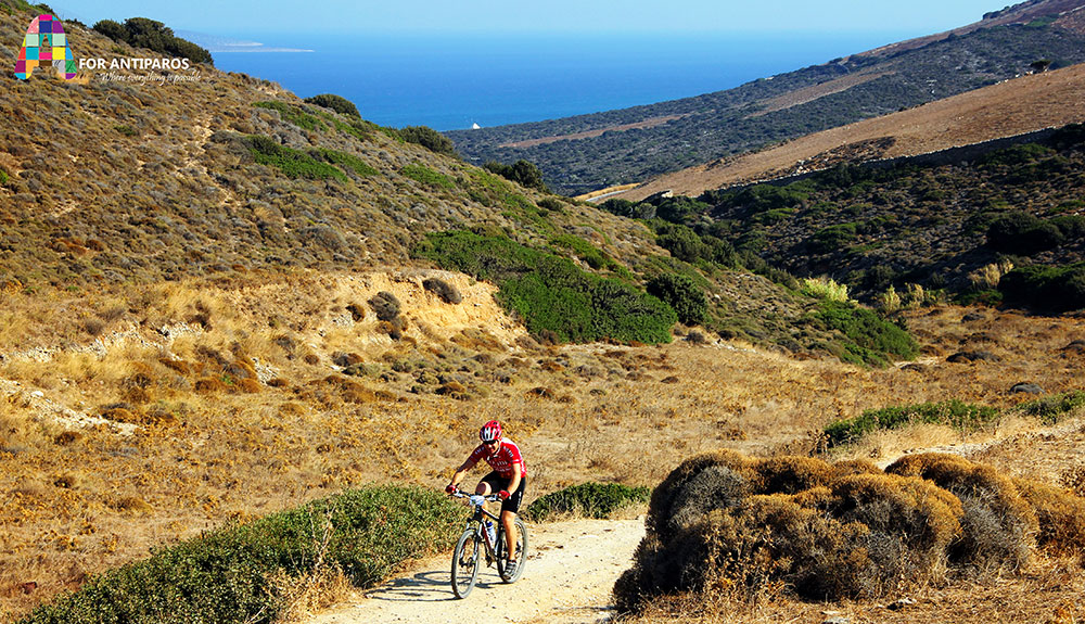 Mountain biking at Antiparos