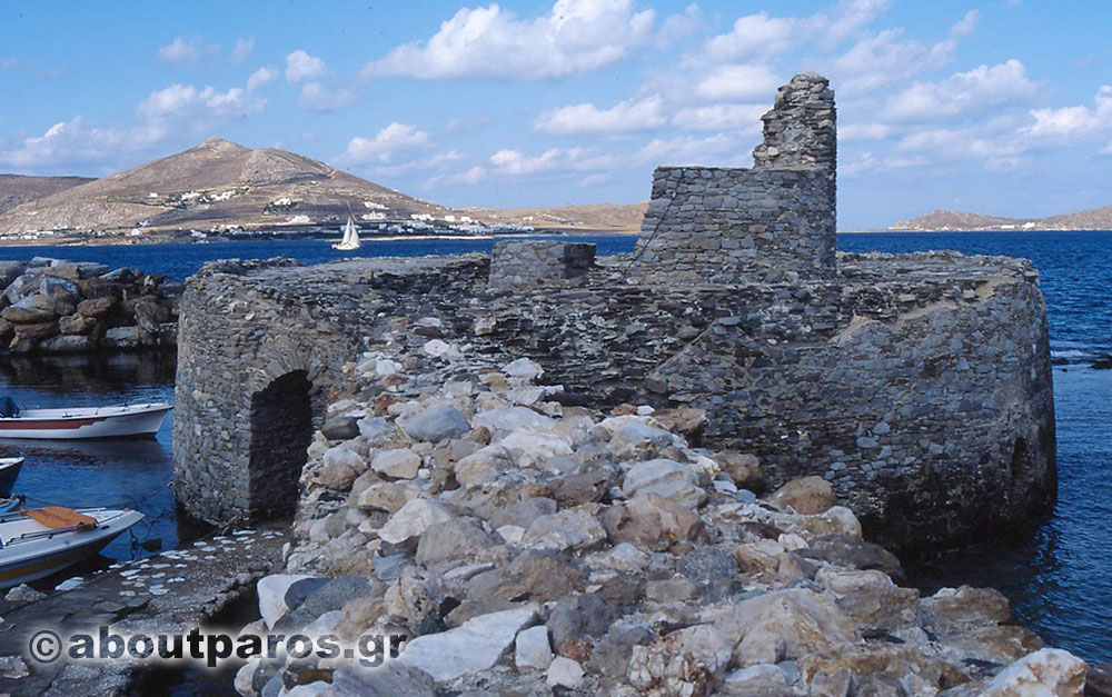 The ancient castle of Naoussa in Paros