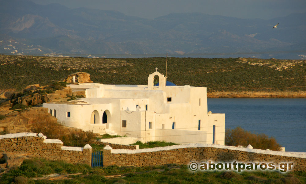 The monastery of Agios Ioanis Detis in Paros