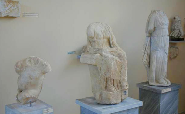 Exhibits at the Archaeological Museum of Paros