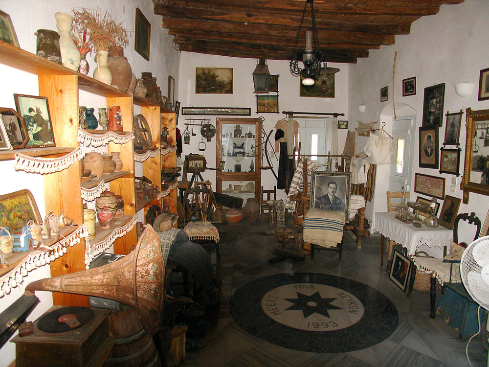 Exhibit hall in the folklore museum of Lefkes in Paros