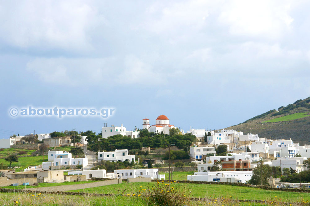 The village Marpissa in Paros