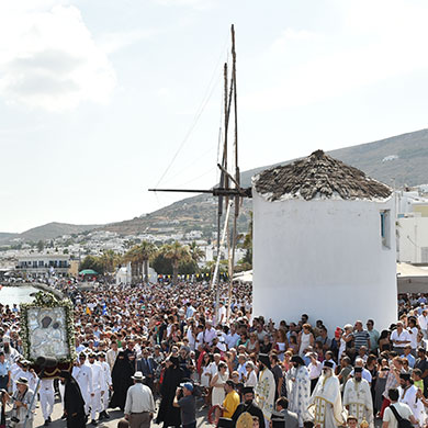 Celebrate the 15th of August in Paros Greece
