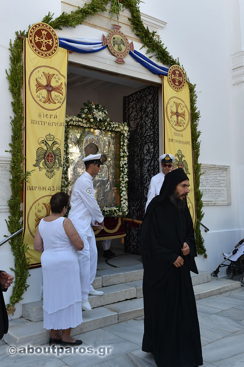 The icon of Panagia Ekatontapiliani in Paros