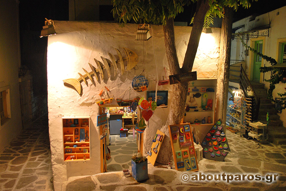 A shop with souvenirs in Parikia of Paros